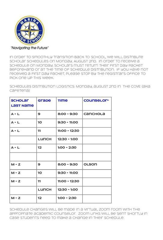 Schedule Distribution Logistics