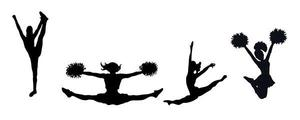 Cheer and Song silhouettes