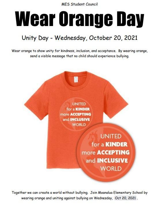Wear Orange Day - October 20, 2021