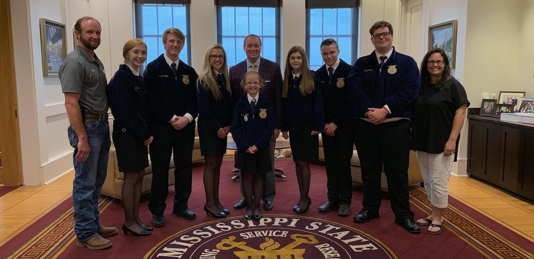 TCCTC FFA Visit MSU President