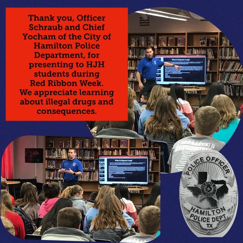 Officer Schraub Speaks to HJH Students Thumbnail Image
