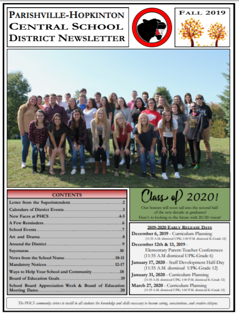 Fall 2019 District Newsletter Featured Photo