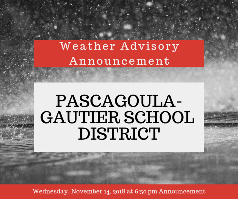 Weather Advisory Announcement - Wednesday, November 14, 2018 6:50 pm