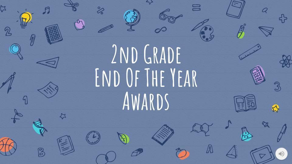 Picture of Second Grade EOY Awards slide