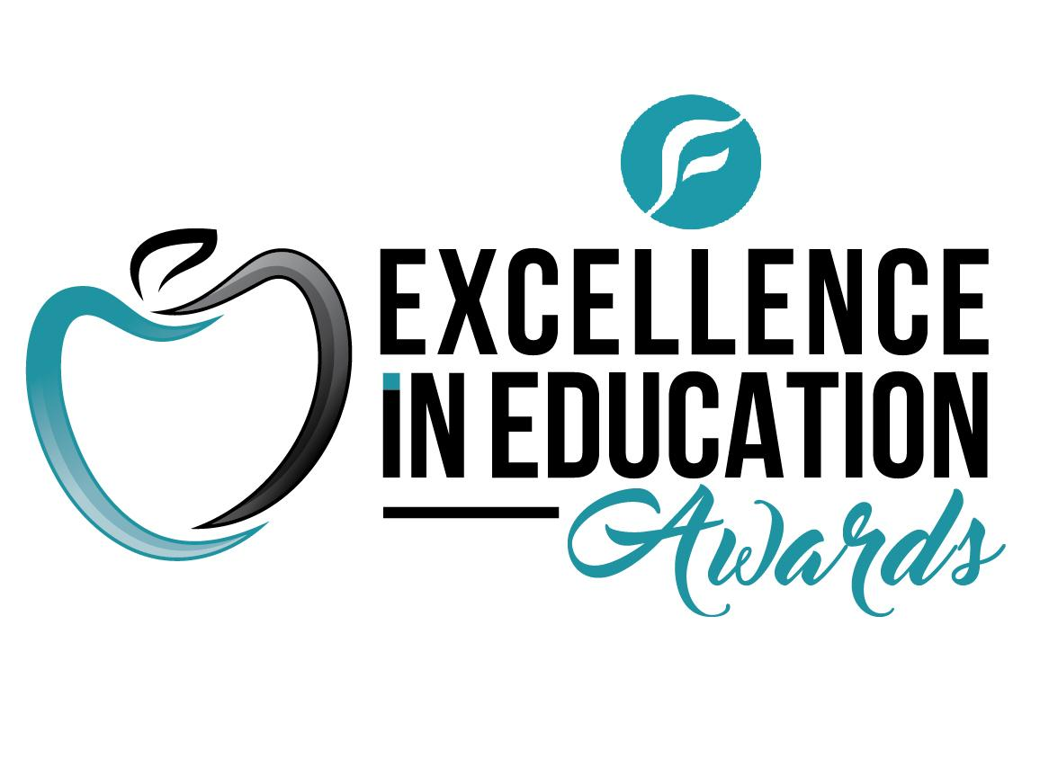 FCS EXCELLENCE IN EDUCATION AWARDS TEAL APPLE LOGO