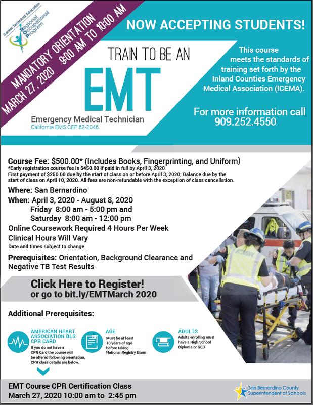 POSTPONED -Emergency Medical Technician (EMT) Thumbnail Image