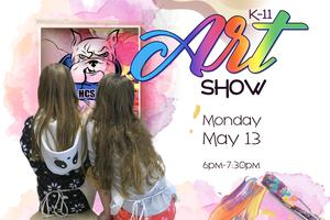 Poster for the Opening of the K-11 Art Show May 13 from 6pm-7:30pm