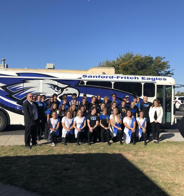 Band picture before they left for Marching Contest
