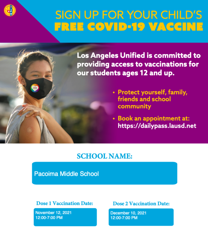 Mobile Vaccination Unit at Pacoima Middle School Featured Photo