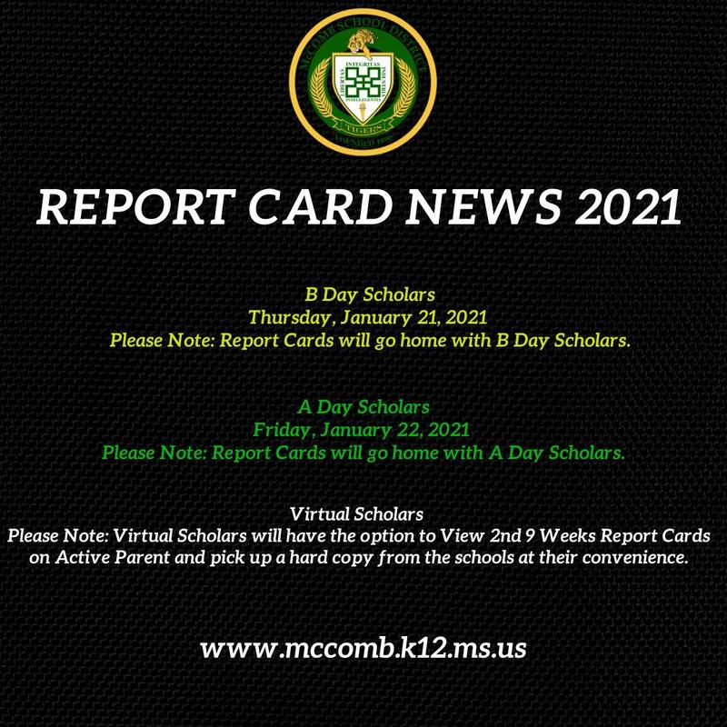 McComb School District Report Card News 2021