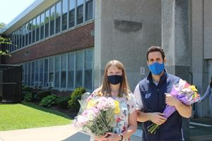 Edison language arts teachers Kimberly Swenson and Marc Lazarow are two of four recipients of the 2021 Optimist Club's Intermediate School Teachers of the Year.