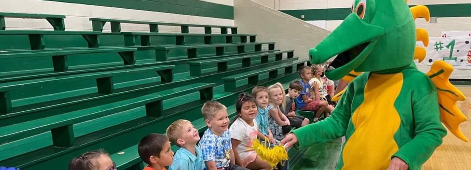 kindergarten students and the Dragon