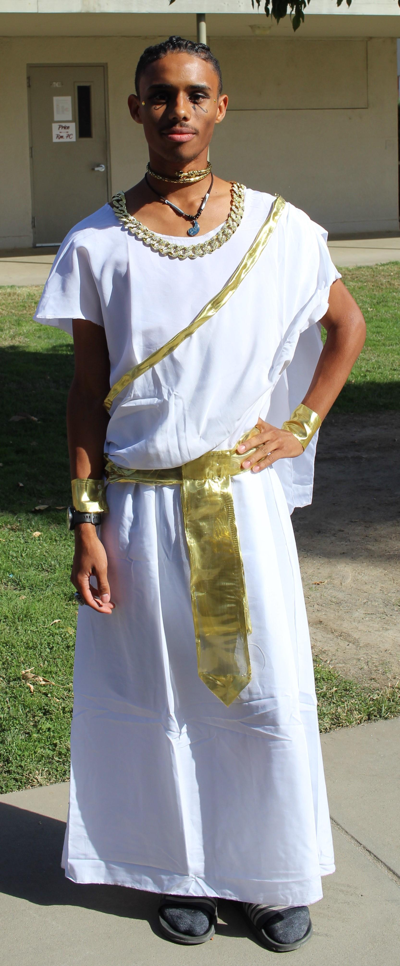 Lawrence Luna as a Pharaoh
