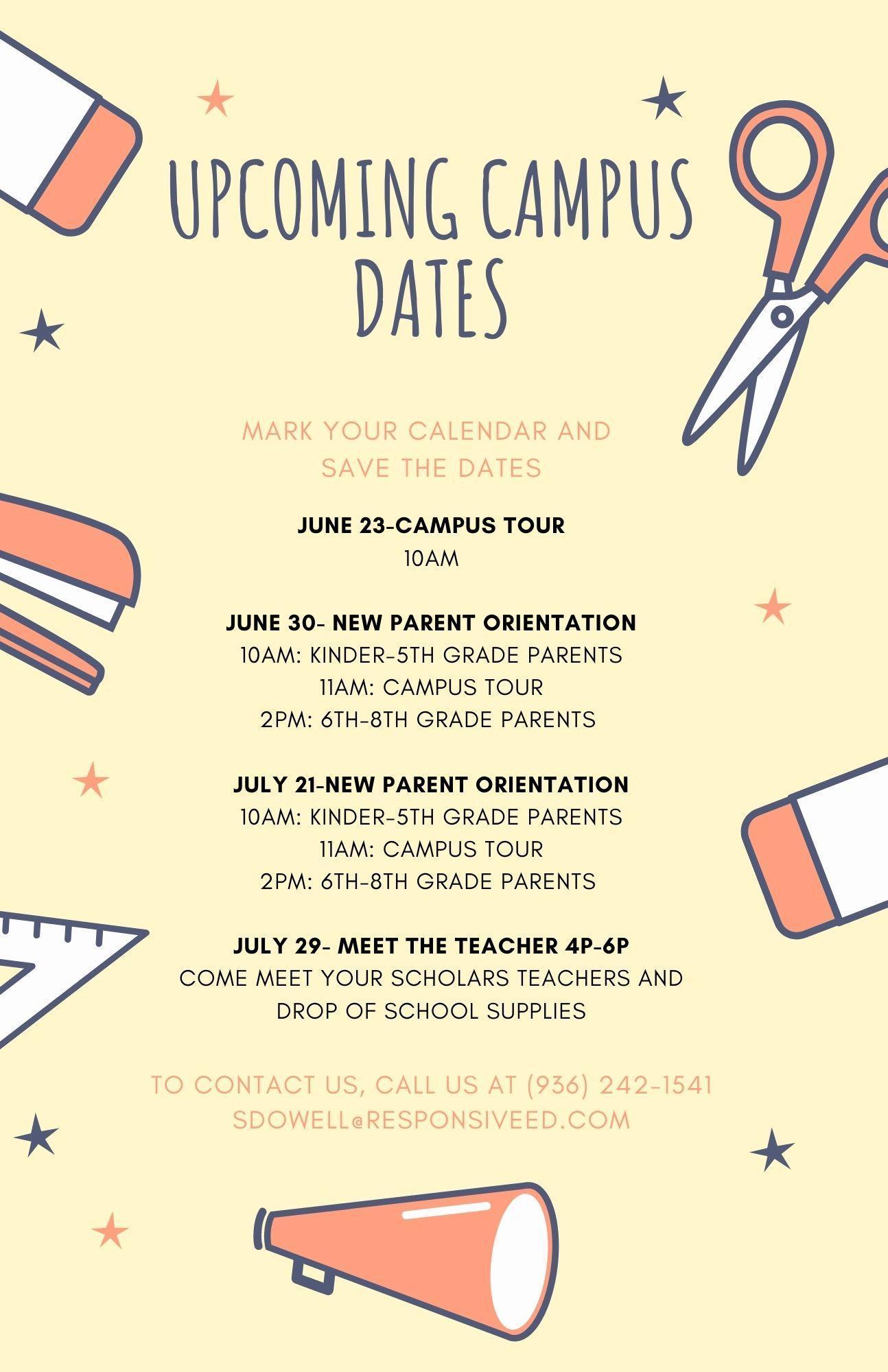 Upcoming Camus Dates