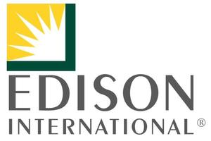 Logo for Edison International, which funds this scholarship.
