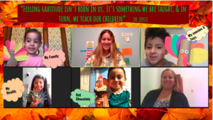 Students thankful collage with quote