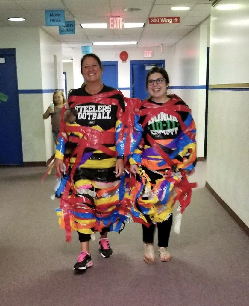 Dr. Shulsky & Ms. Westermayer walking the building after being taped.