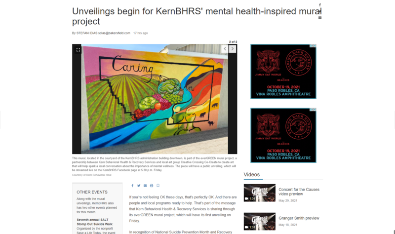 BCSD in the news: KernBHRS' mental health-inspired mural Featured Photo