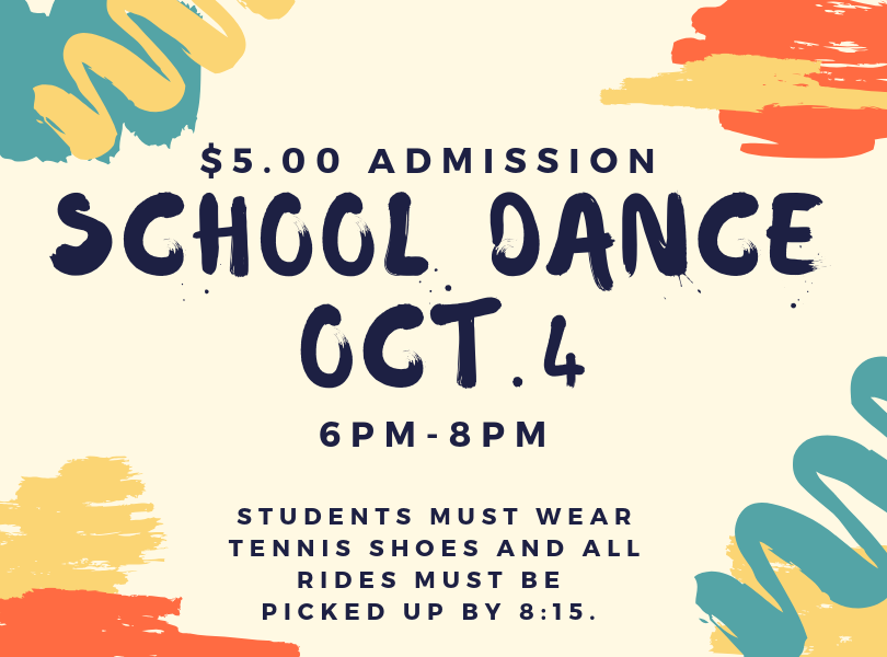 School Dance Oct. 4