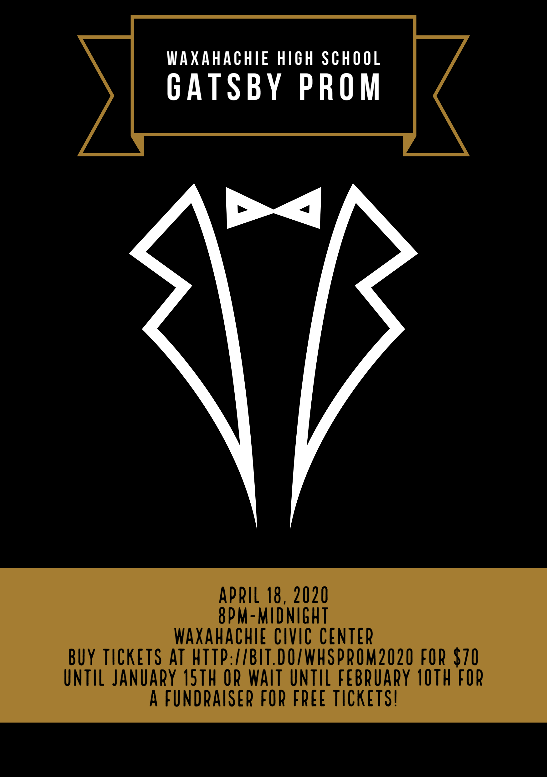 Gatsby Prom April 18 at 8pm at the Civic Center
