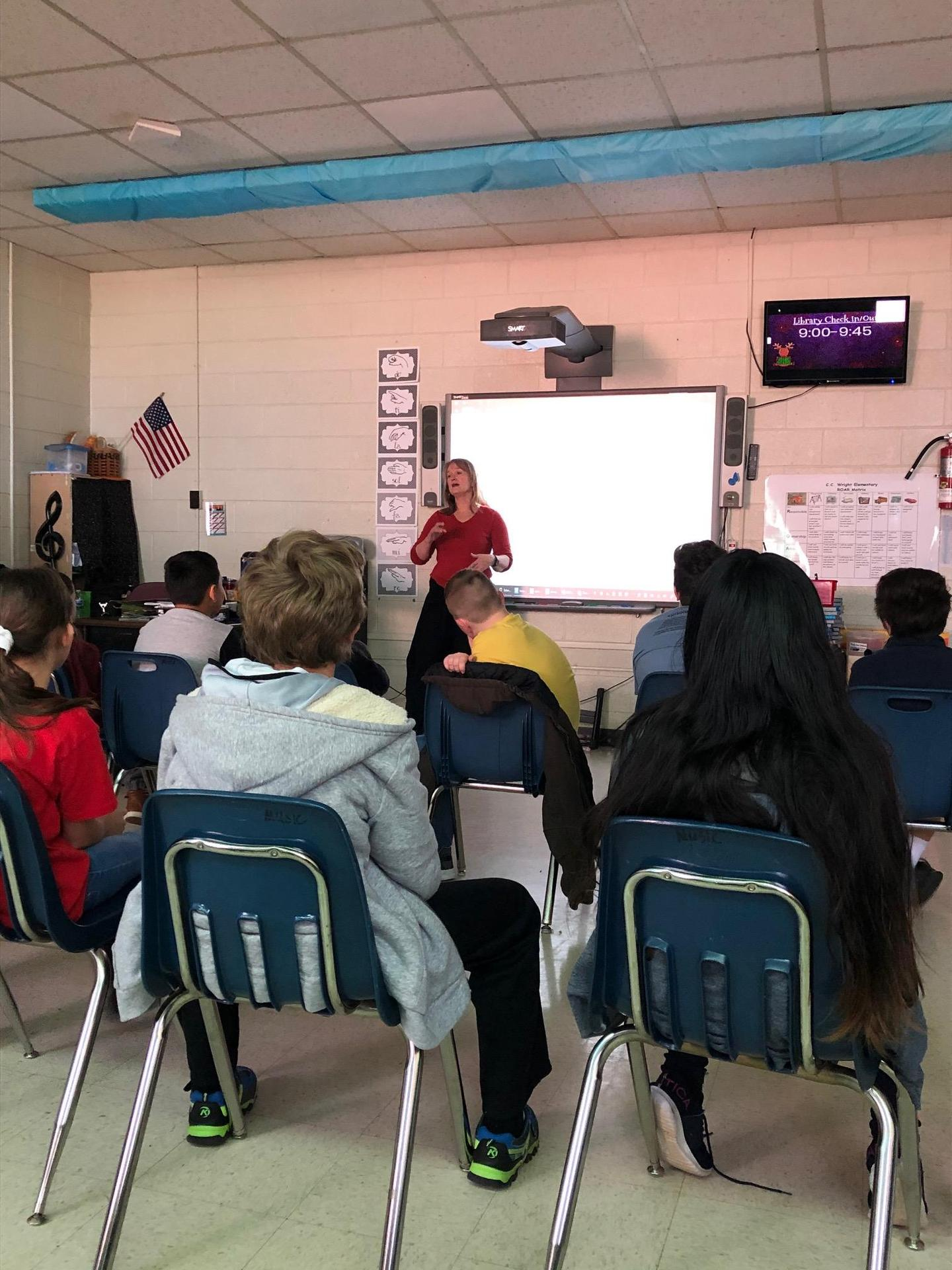 Ms. Church teaches 5th grade