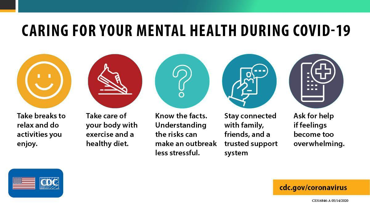 CDC recommended mental health strategies