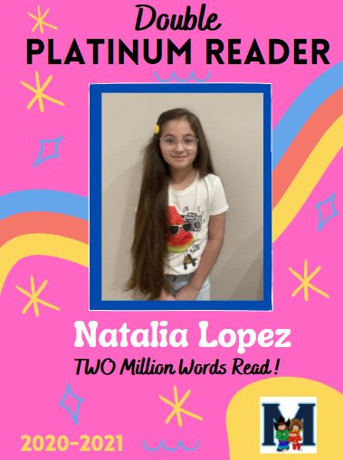 Congratulations to our second DOUBLE Platinum Reader! Featured Photo