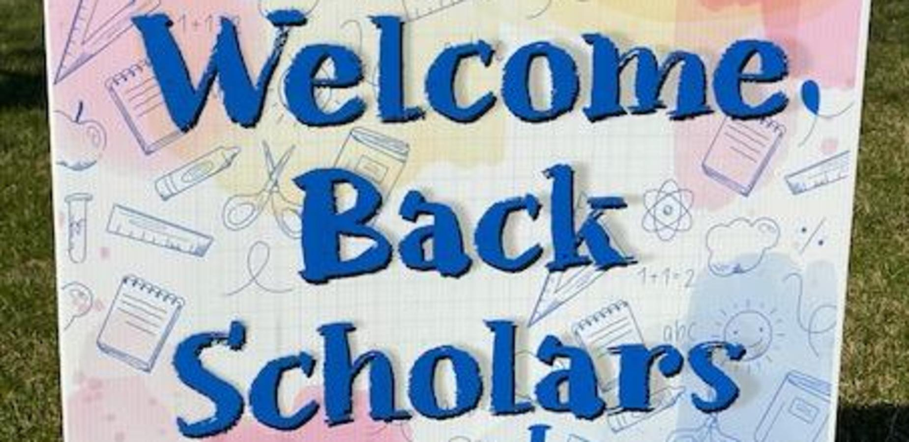 Students returning back to school in hybrid model