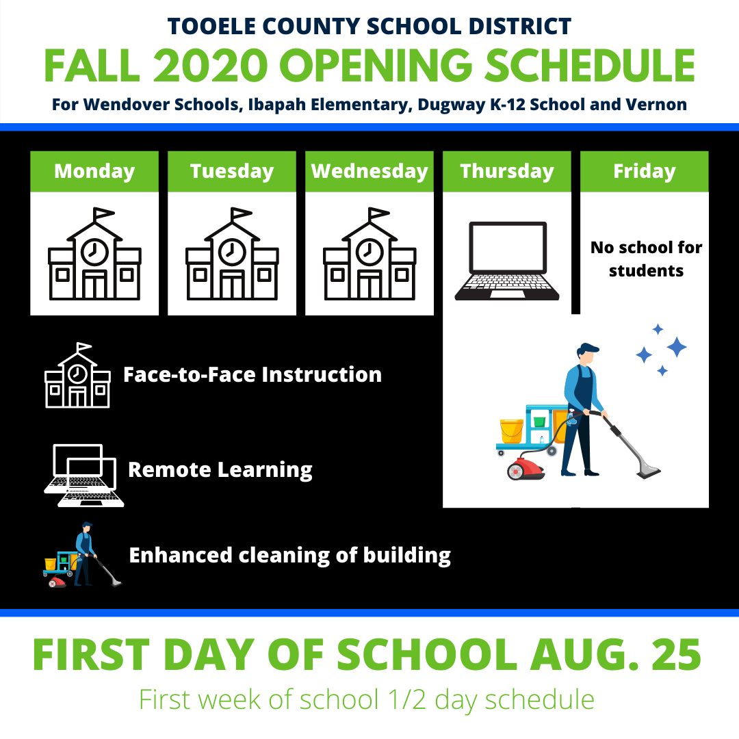 image of NESS return to school schedule