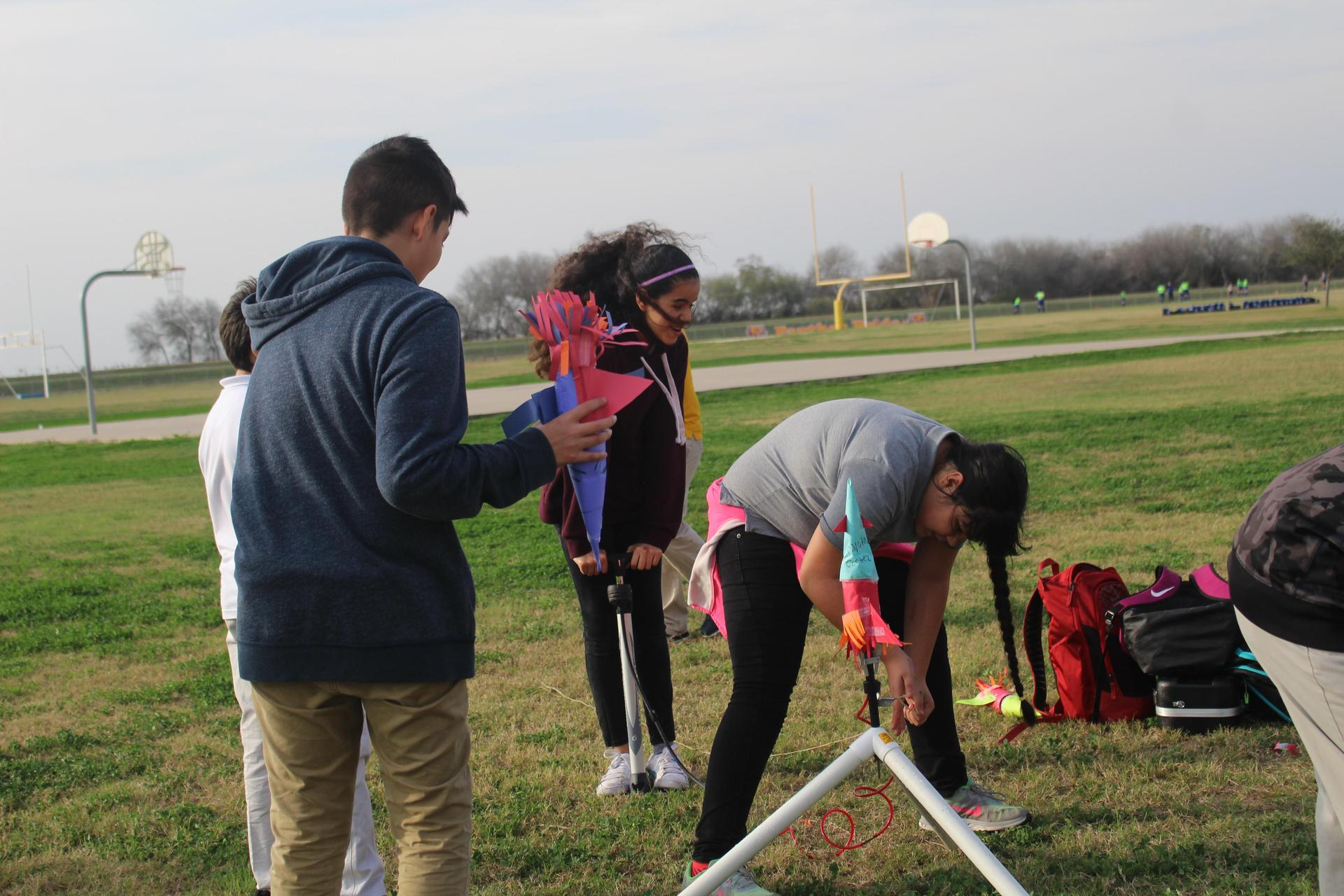 Setting up rocket launch