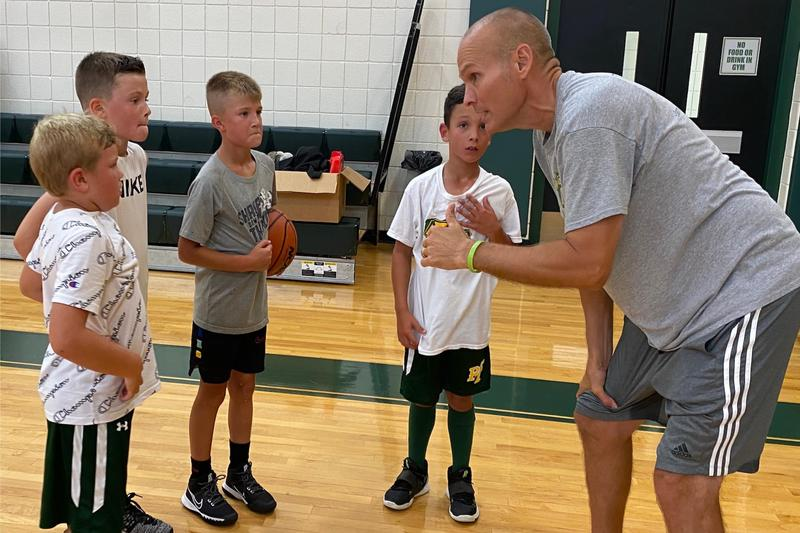 coach with players