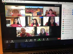 Photo of Life Crew members during a zoom meeting