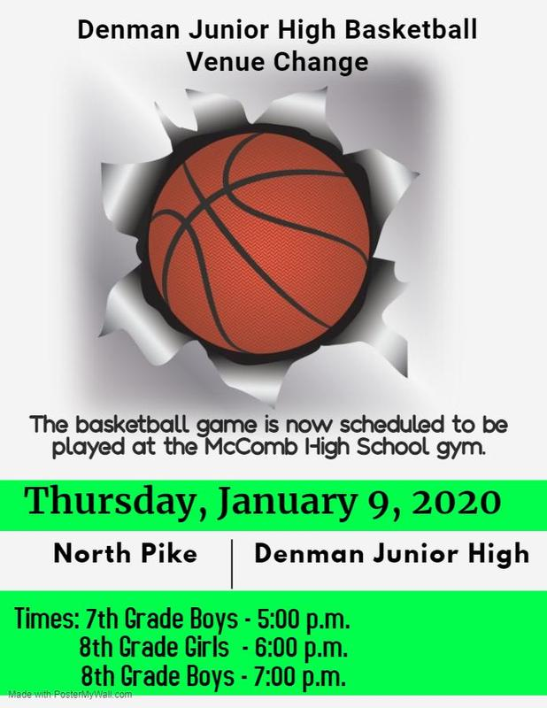 Denman Junior High School Basketball Venue Change  #ItsComeBackTime