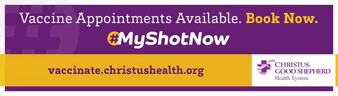 Vaccine Appointments Available at Christus Good Shepherd Hub Featured Photo