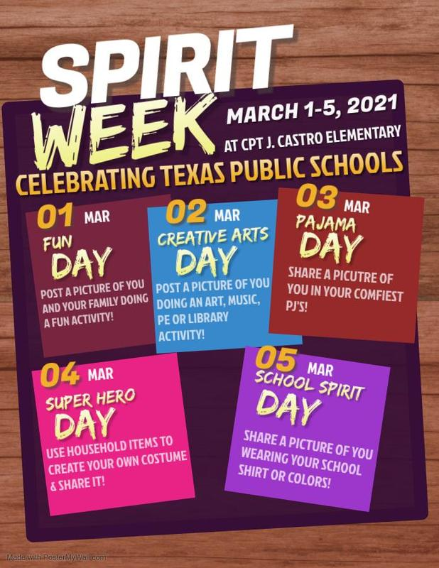 Spirit Week March 1 - March 5, 2021 Featured Photo