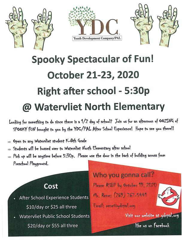YDC Spooky Spectacular of Fun Brochure