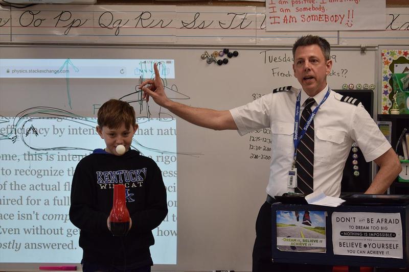 SW fifth-graders enjoy Adopt-A-Pilot program Thumbnail Image
