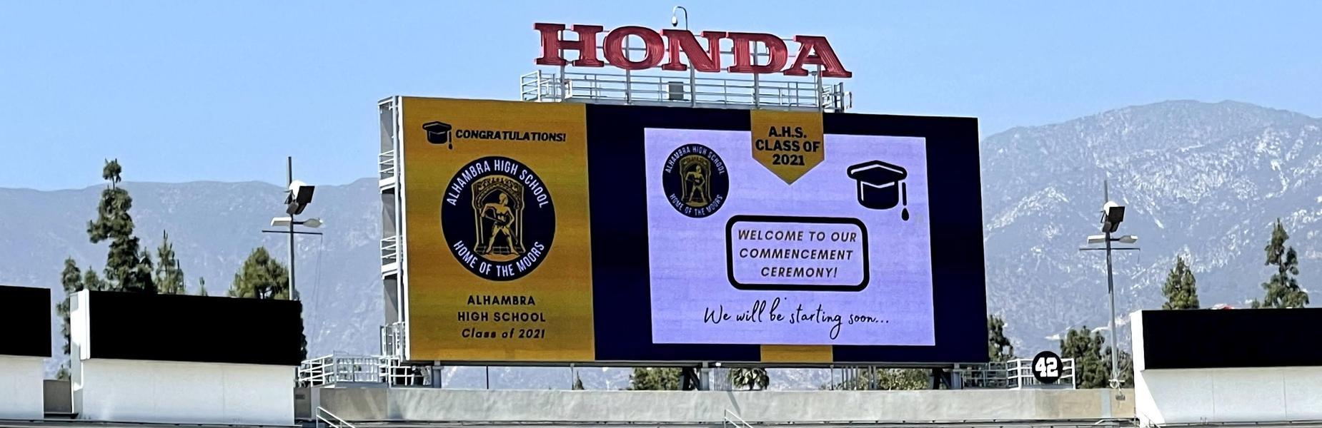 Graduation at the Rose Bowl
