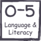 0-5 literacy and language logo