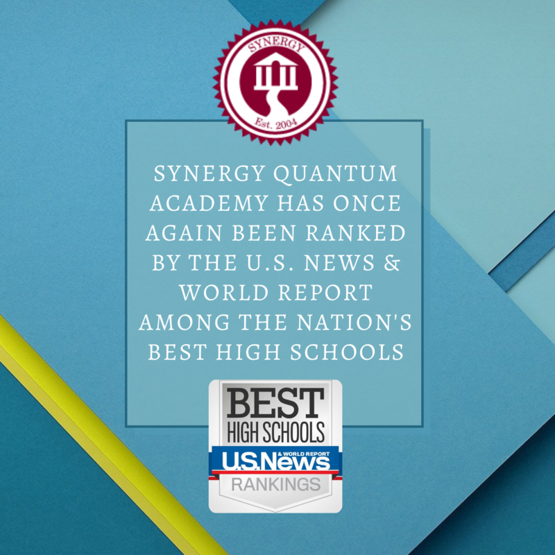 Synergy Quantum Academy ranked by the U.S. News & World Report Among the Nation's Best High Schools in 2021 Featured Photo