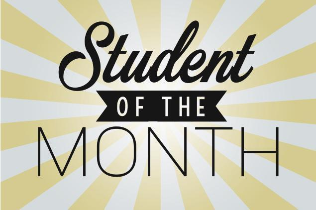 Student of the Month Celebration: Oct. 30 @ 2 pm Featured Photo