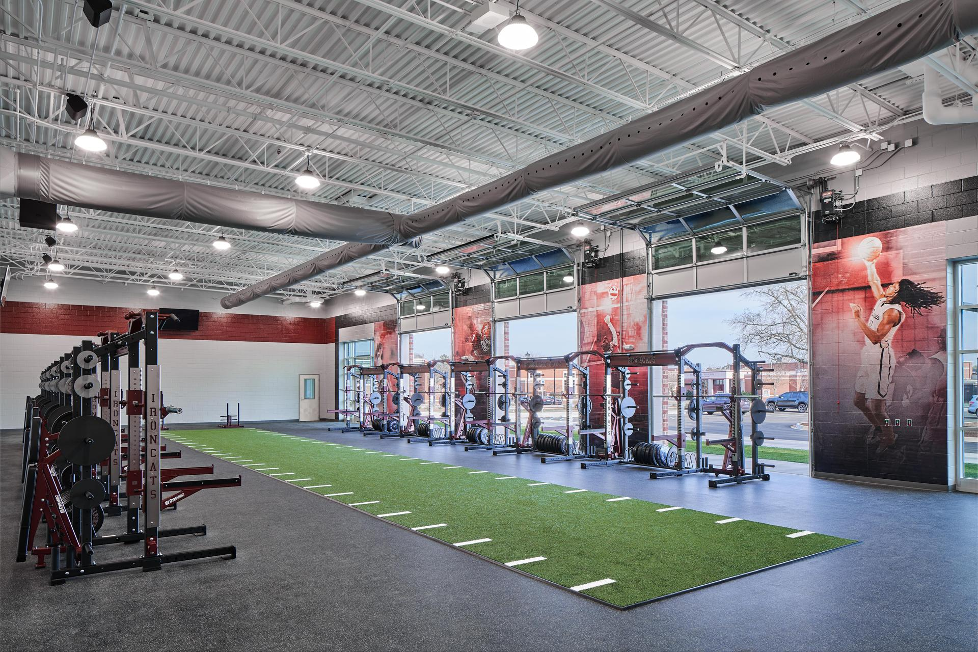 Training Room of new Brookland-Cayce High School Arena