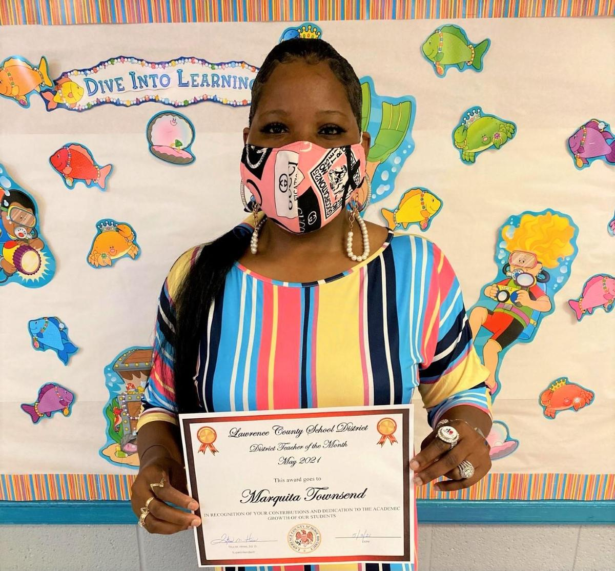May 2021 Teacher of the Month Marquita Townsend