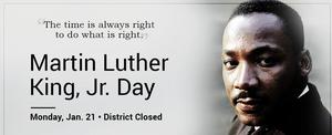 Picture of MLK with the words: