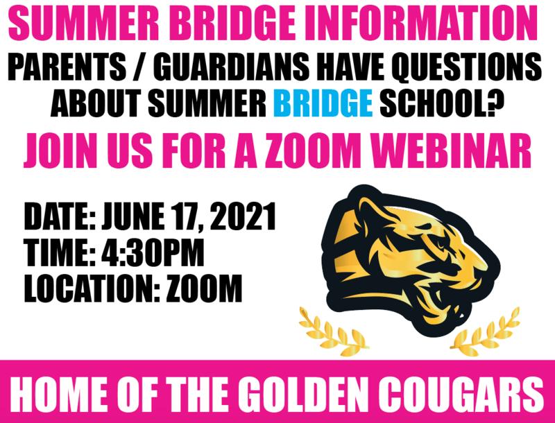 Summer BRIDGE School Parent/Student Orientation Featured Photo