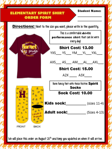 School Supply Fee and Elementary Dri-Fit Shirt and Socks! Thumbnail Image
