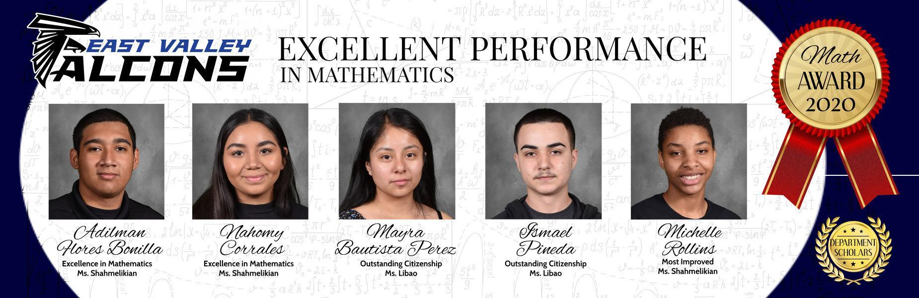 Math Department Awards