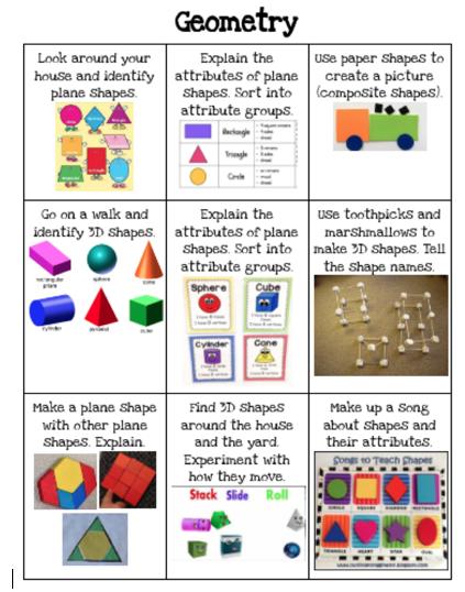 Math Choice Board