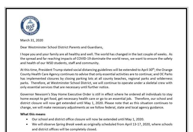 School Closure Image