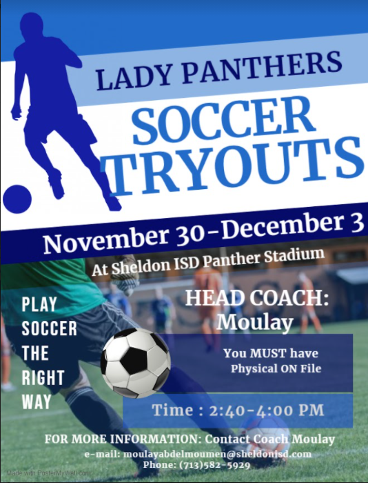 Lady Panther Soccer Tryouts Featured Photo